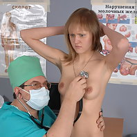 Medical freak exams a blushing babe