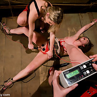 Devaun is tortured by two hot blondes with cattleprods
