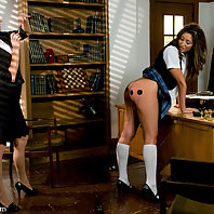 Angelica Saige spreads a rumor about the Head Mistress Madeline and gets called into the office for