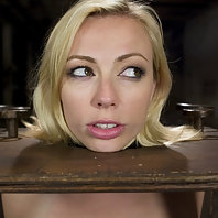 Adrianna Nicole gets her huge natural tits tied and shocked