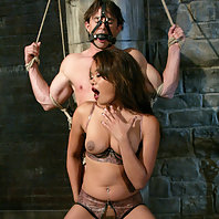 Beautiful dominatrix gets her ass worshiped