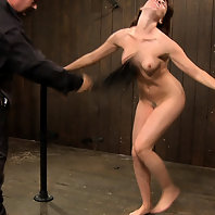 Last part of a live BDSM show where two girl are abused.