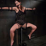 Fashion model turned bondage slut, bound, fucked and cumming.