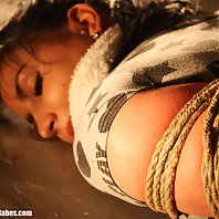 Spanish girl hogtied cleavegagged
