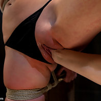 Vai is pushed to her limits with bondage, electroplay, and lesbian domination.