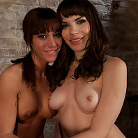 Dana DeArmond and Gia DiMarco worship one another's perfect ass.