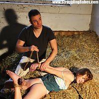 Anouk overpowered hogtied mouth-stuffed tapegagged tit-grabbed