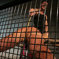 Hot Angelic Diamond black and appears in a BDSM