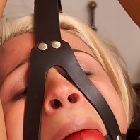 Voluptuous woman flogged and Hogtied.