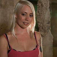 Hot blond bound made to cum, impaled suffering water torture.