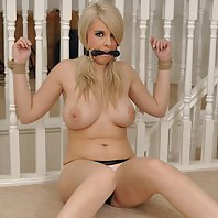 Big Boobed teen is made to feel like a bondage slut when she's tied up