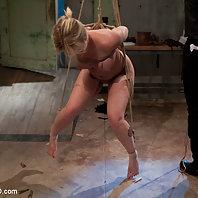 Slave Trainers work in the basement to train sex slut Sasha Knox