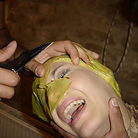 Check out this poor chick as she gets suffocated and tortured in this nasty BDSM story live