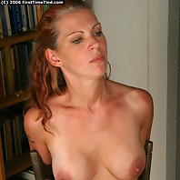 Freja is grabbed from behind when enter her front door. She is overpowered and handcuffed by a intru