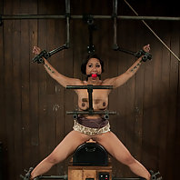 Hot Asian MILF bound to sybian and made to cum until her brain melts.