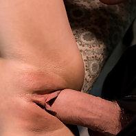 Sexy girl fucked in hard bondage.