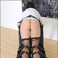 Lady sonia restrained for spanking