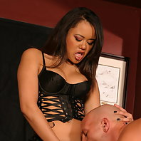Fierce dominatrix Annie Cruz gets naughty with a strap on cock and fucks hard in this BDSM story liv