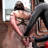 DD through hard bondage hogtied bit-gagged tit-grabbed