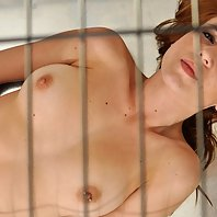 Scarlot Rose put in a dog cage, stripped naked and made to plead to be let free