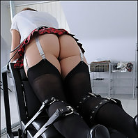Restrained milf for spanking