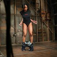 Stacey Cash suffers in tight in-escapable bondage.