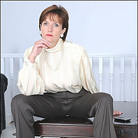 Satin and seamed nylons milf sonia