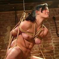 Caged Carly gets used in the Dungeon.