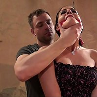 Nicole getting tied up cleavegagged clothes stripped tit-grabbed