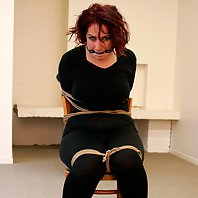 Rani chair-tied ballgagged