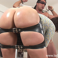 Rubber spanking skirt milf mistress