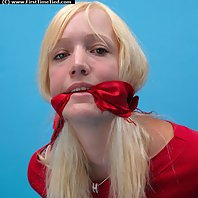 Meet Veronika. She is handcuffed the very first time in her life. She is cuffed and cleave gagged in