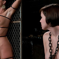Two sluts are bound fucked tortured and made to service the other