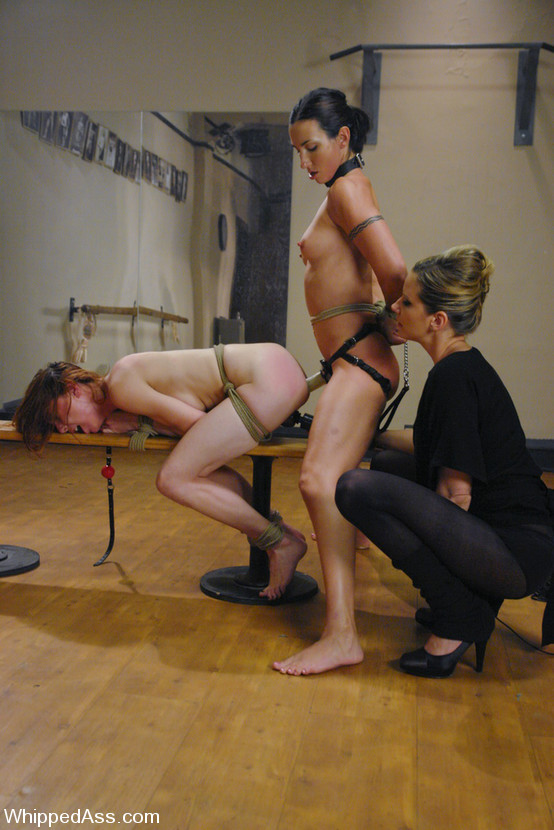 Lesbian milf strap bondage