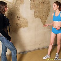Coach tears gymnastic cutie's clothes into shreds