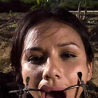 Nadia Styles is forced to dig a hole while mercilessly shocked