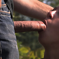 Beautiful blond gets bound and fucked in public