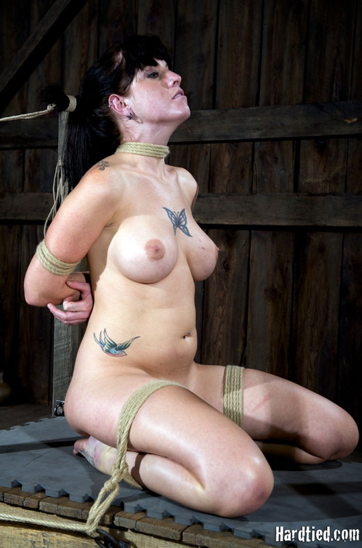 Big titted brunette tricia oaks dressed in red gets her sexy nipples clamped