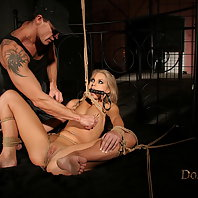 Small titted blonde Sabrinka enjoys bdsm anal play