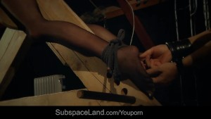Touchy whispers of a punished submissive