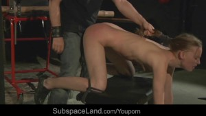 Gitta blond spanked and deep fucked from behind