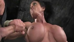 Muscled goddess in bdsm