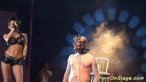 Extreme fetish porn on public stage