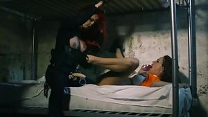 Blown away: sexy cop roughs up lesbian cell mate