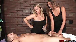 Hot babes help their clients relax
